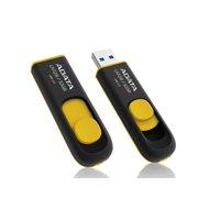 ADATA DashDrive UV128 USB 3.0 Flash Drive 32GB Black/Yellow (AUV128-32G-RBY)