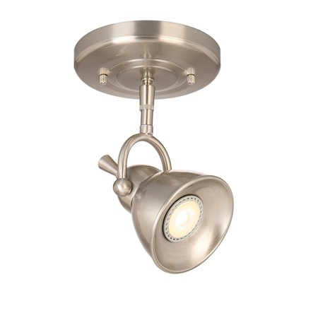 Design House 578021 Pierce Single-Light LED Directional Ceiling Light, Satin Chrome ()