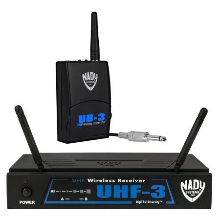 nady uhf 3 wireless instrument guitar system with true diversity. Black Bedroom Furniture Sets. Home Design Ideas