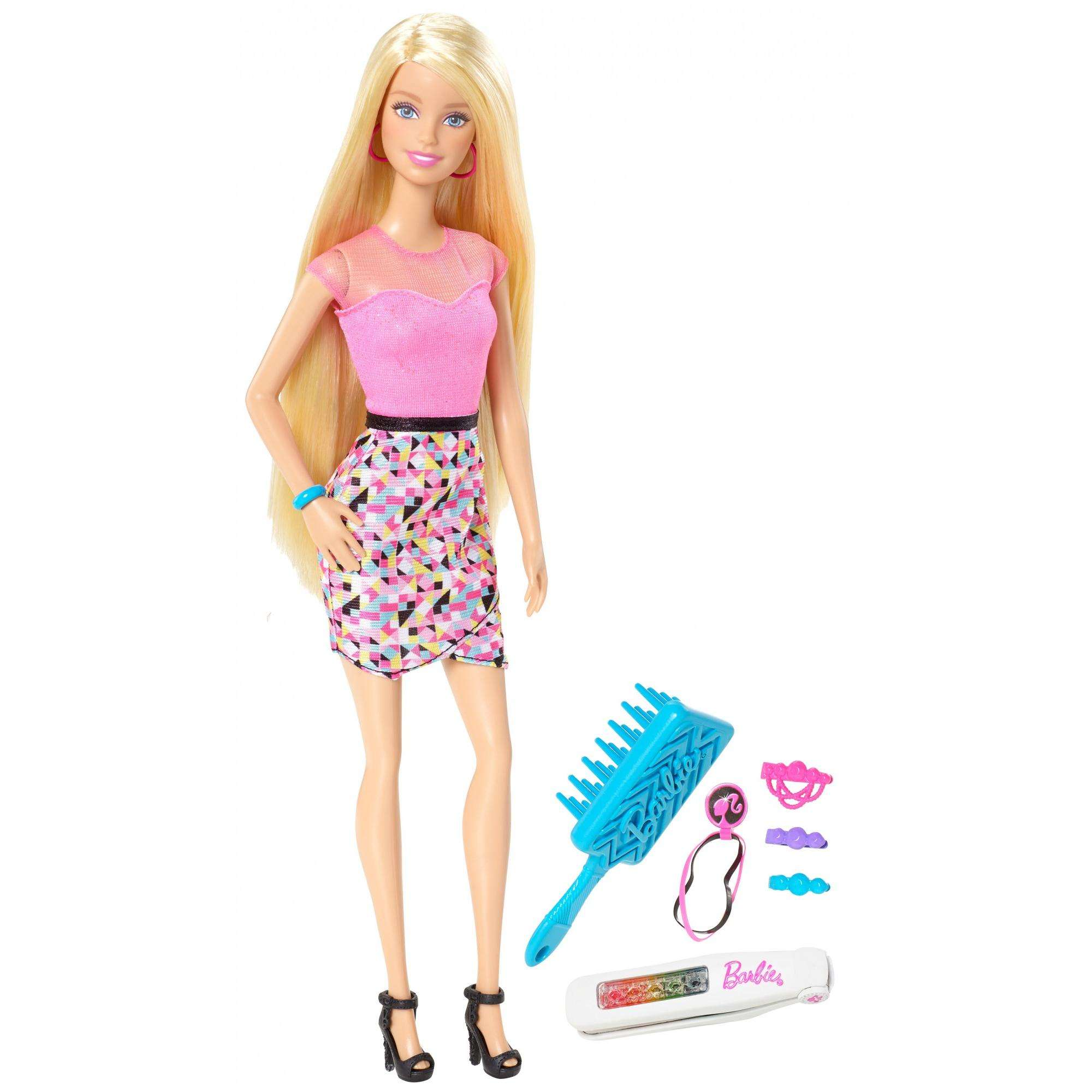 Barbie Rainbow Hair Doll - Blonde