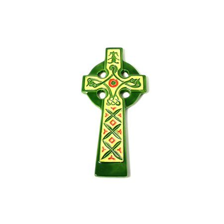 Celtic Cross Hand Painted Ceramic Wall Decor Irish Symbol