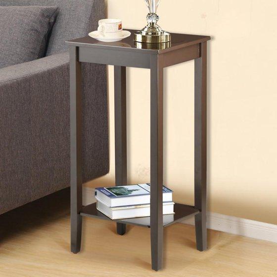 Bedroom Sofa Table: Yaheetech Wood Coffee Table Tall Bedside Nightstand