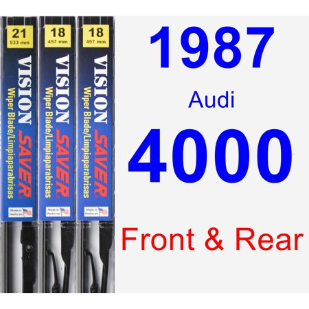 1987 Audi 4000 Wiper Blade Set/Kit (Front & Rear) (3 Blades) - Vision