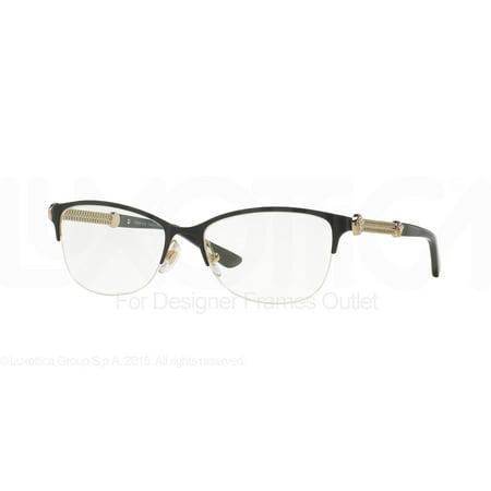 7d91686ee61d VERSACE Eyeglasses VE 1228 1291 Black/Pale Gold MM - Walmart.com