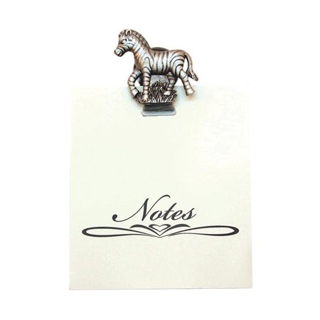 Greatlookz All For Giving Zebra Memo Note Pad with Magnetic Clip,