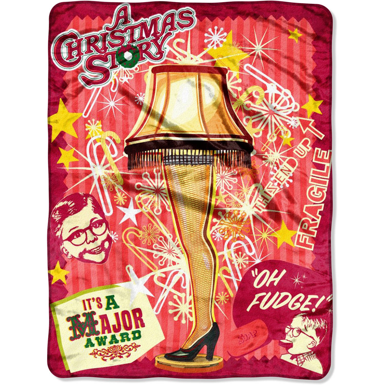 "Warner Bros.' A Christmas Story ""Retro Lamp"" 46"" x 60"" Micro Raschel Throw"