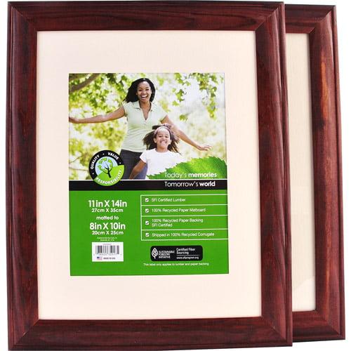 11x14 Walnut Wood Wall Frame Matted To Walmartcom