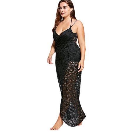 312e5621a1 Women Swimsuit Cover Up Bathing Suit Kimono Long Beach Dress Floral Lace  Bikini Swim Coverup ...