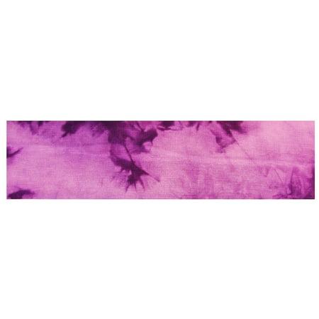 Kenz Laurenz Cotton Headband Soft Stretch Headbands Sweat Absorbent Elastic Head Band Tie Dye Purple