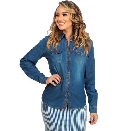 Free shipping BOTH ways on mens denim long sleeve shirts, from our vast selection of styles. Fast delivery, and 24/7/ real-person service with a smile. Click or call