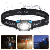 EEEKit USB Rechargeable Headlamp Flashlight - 5000 Lumen Super Bright White Cree Led + Red Light,5 Light Modes Waterproof Hands-free LED Headlamp, Adjustable Headband LED Work Headlight