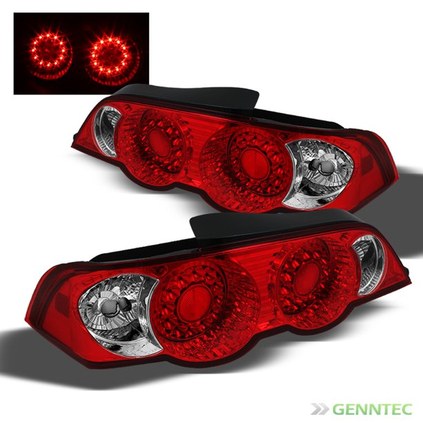 For 2002-2004 Acura Rsx Red Clear Led Tail Lights Lamps