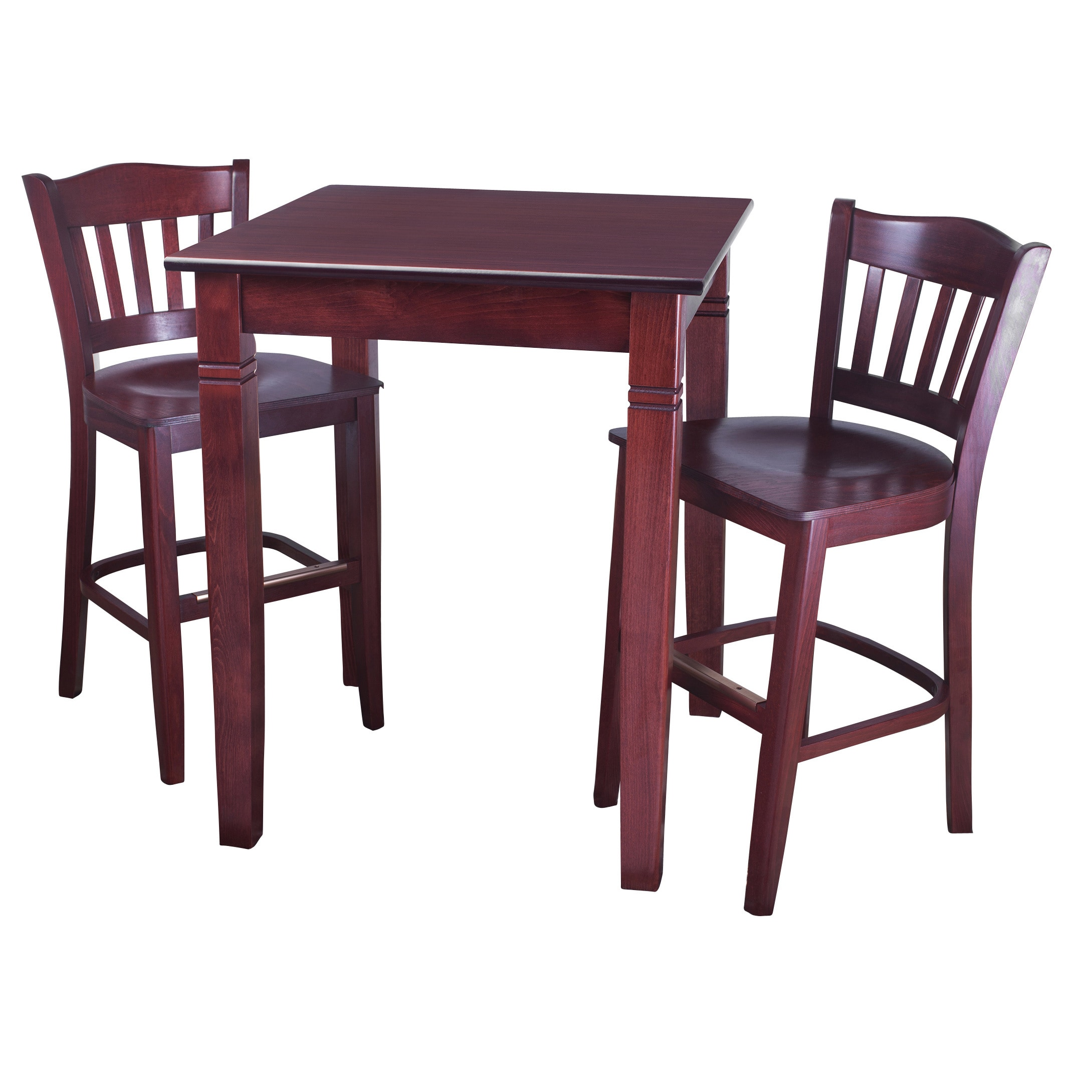 Beechwood Mountain LLC Americana 3-piece Mahogany Finish Pub Set by Overstock