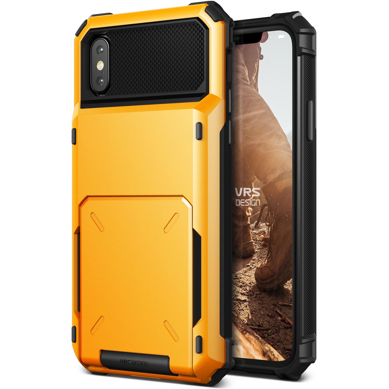 iPhone X Case Wallet Cover Case by VRS Design Damda Folder, Metallic Black