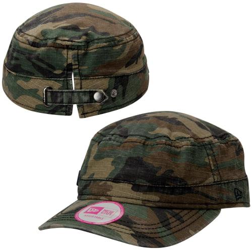 Atlanta Braves New Era Women's Chic Cadet Adjustable Hat - Camo - OSFA