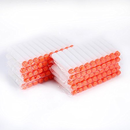 100pcs 7.2cm EVA Sponge Foam Refill Bullet Darts for Elite Series Blasters Hollow Tower Shape Head Kid Toy Gun for Christmas Gift White - Kids Toy Guns