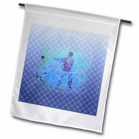 3dRose Martial Arts Man Training Collage Polyester 1'6'' x 1' Garden