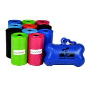 Pet Waste Bags, Dog Waste Bags, Bulk Poop Bags on a roll, Clean up poop bag refills  + FREE Bone Dispenser