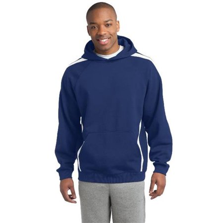 Sport-Tek® Sleeve Stripe Pullover Hooded Sweatshirt. St265 True Royal/ White Xs - image 1 of 1
