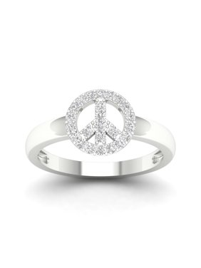 0.25CT Diamod Engagement Wedding Ring Size 6 in 10k Whie Gold