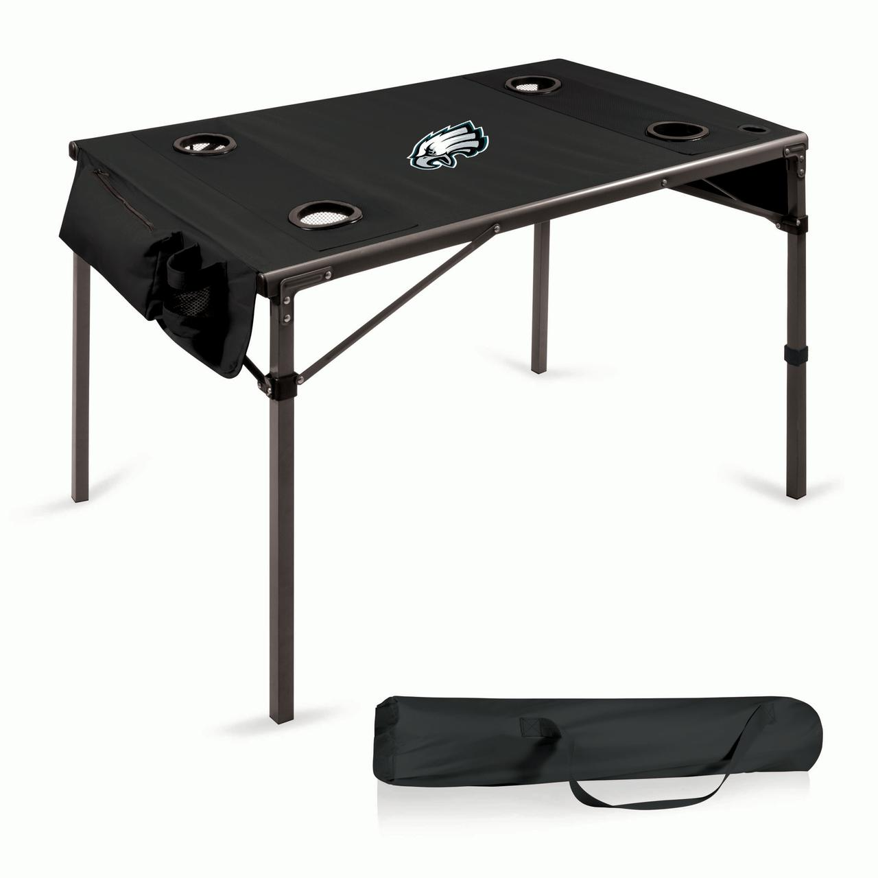 Philadelphia Eagles Portable Folding Travel Table - Black - No Size