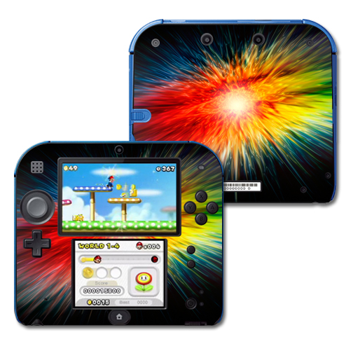 Skin Decal Wrap for Nintendo 2DS sticker Color Storm