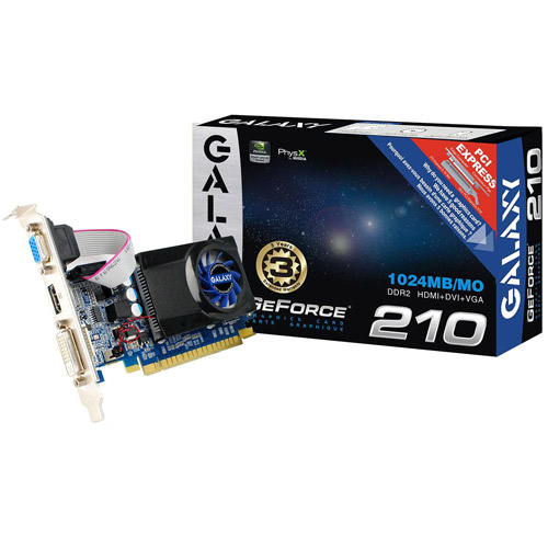NVIDIA GeForce 210 1GB DDR2 PCIe Graphics Card