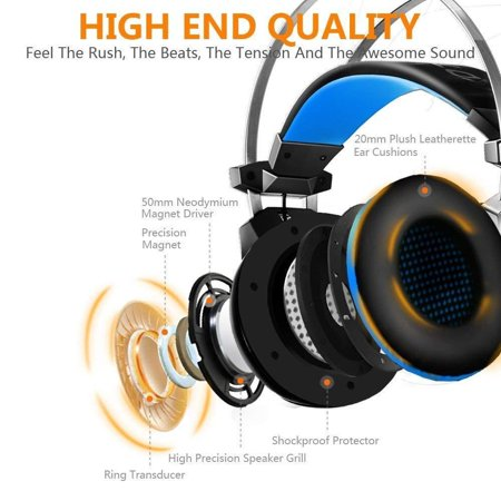 EACH GS500 Stereo Bass Surround Gaming Headsets for PS4 New Xbox One PC with Mic - image 1 de 8