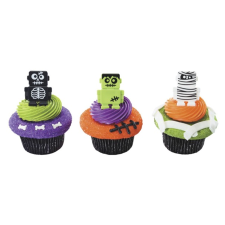 Robotic Mummy 12pack Cupcake Decoration - Halloween Mummy Cupcakes