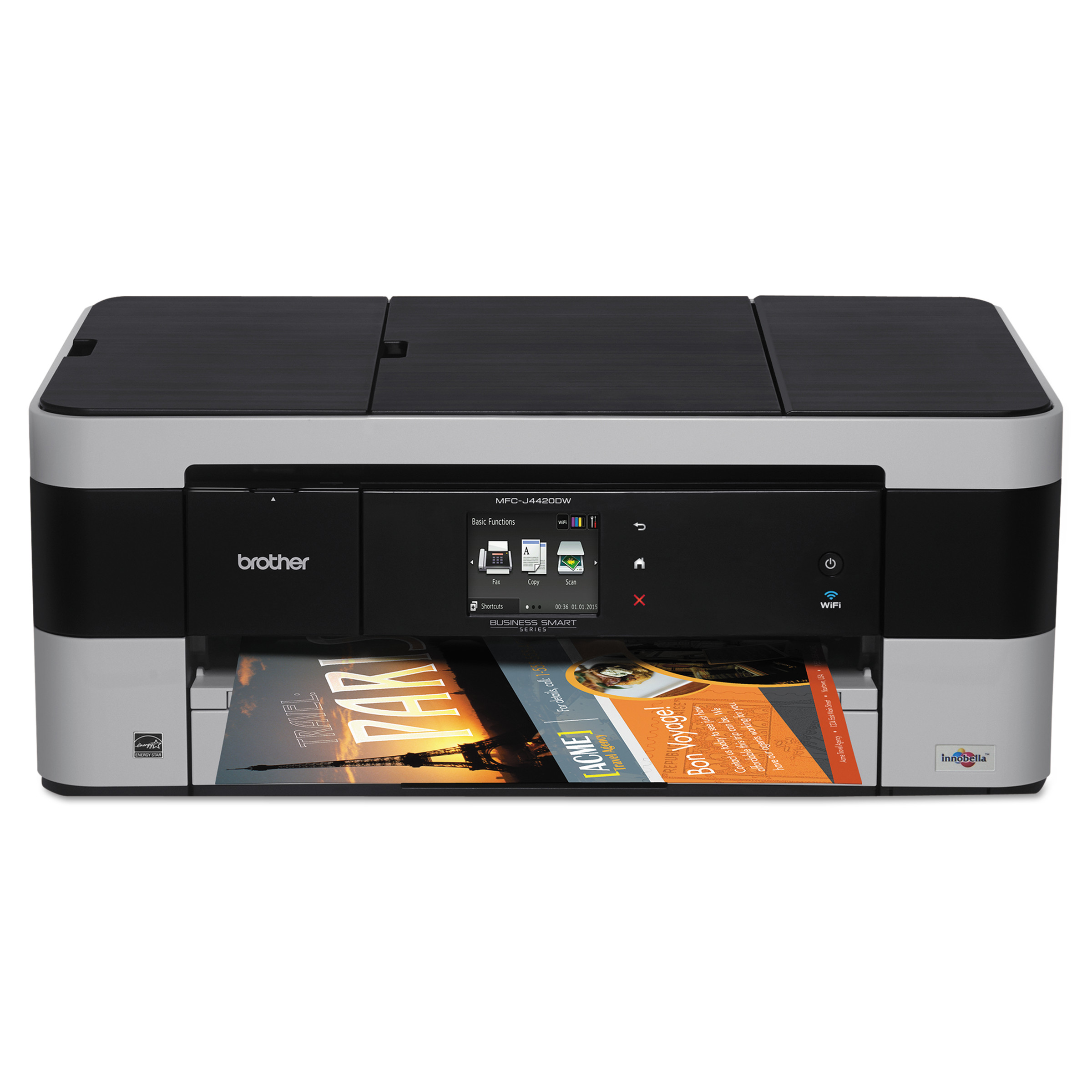 Brother Business Smart MFC-J4420DW Multifunction Inkjet Printer, Copy/Fax/Print/Scan