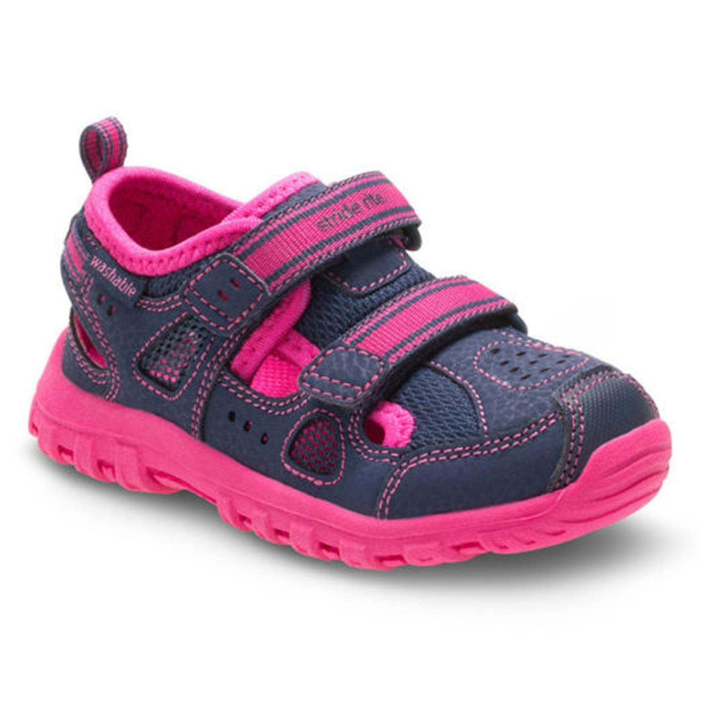 Stride Rite Baby Girl's Made 2 Play Christiana (Toddler) Navy Pink Shoe 10 W by Stride Rite