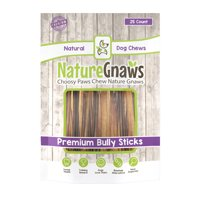 "Nature Gnaws Extra Thin Bully Sticks 5-6"", 25 Count"