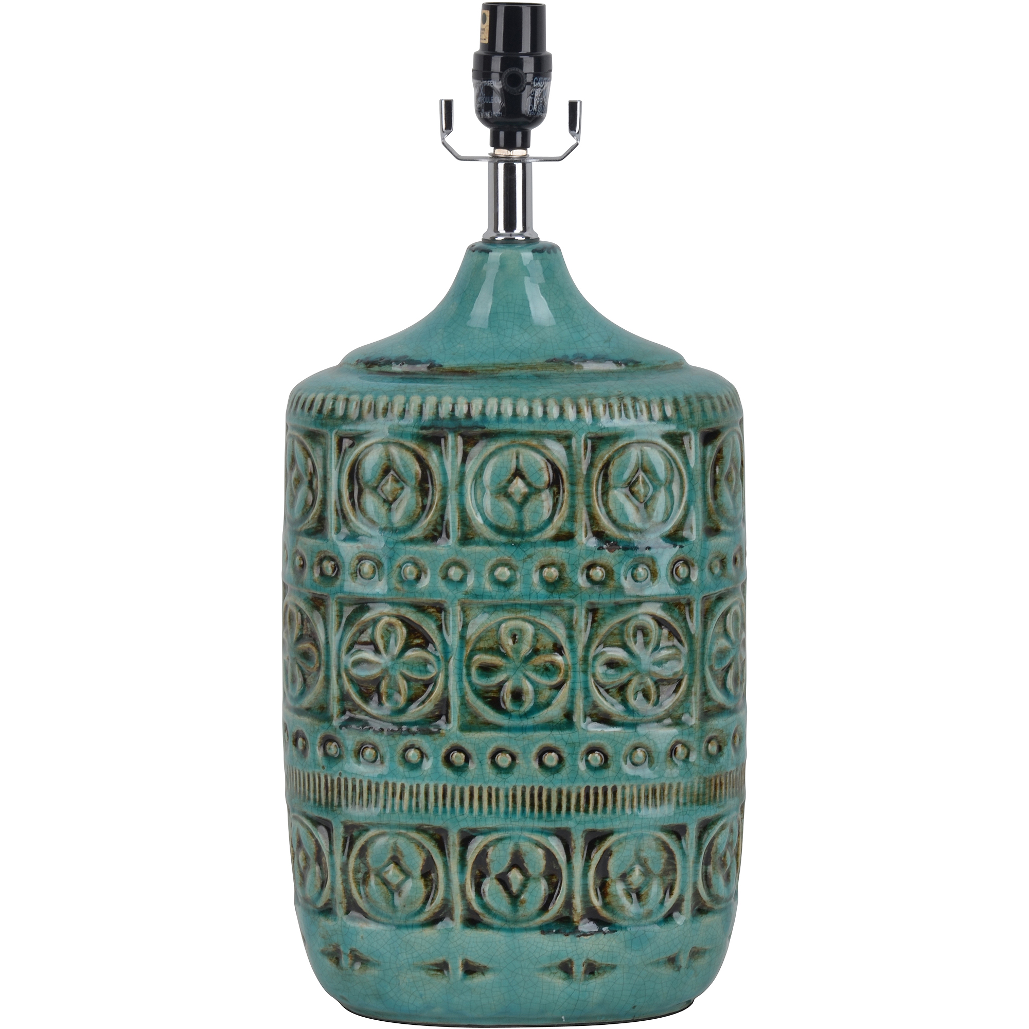 Ceramic Table Lamp, Teal