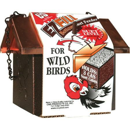 C Products Ez Fill Bottom Cake Suet Bird Feeder
