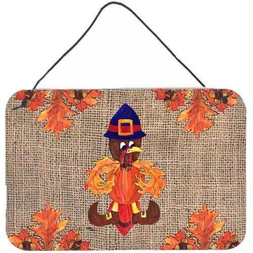 Caroline's Treasures Thanksgiving Turkey Pilgrim Fleur De Lis by Sylvia Corban Graphic Art Plaque