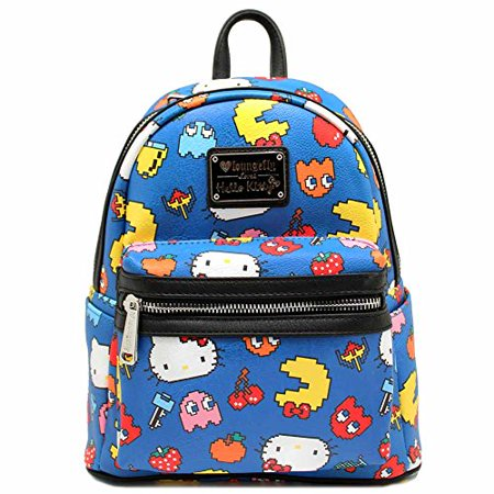 Loungefly Hello Kitty Pac-Man Character Print Mini Backpack