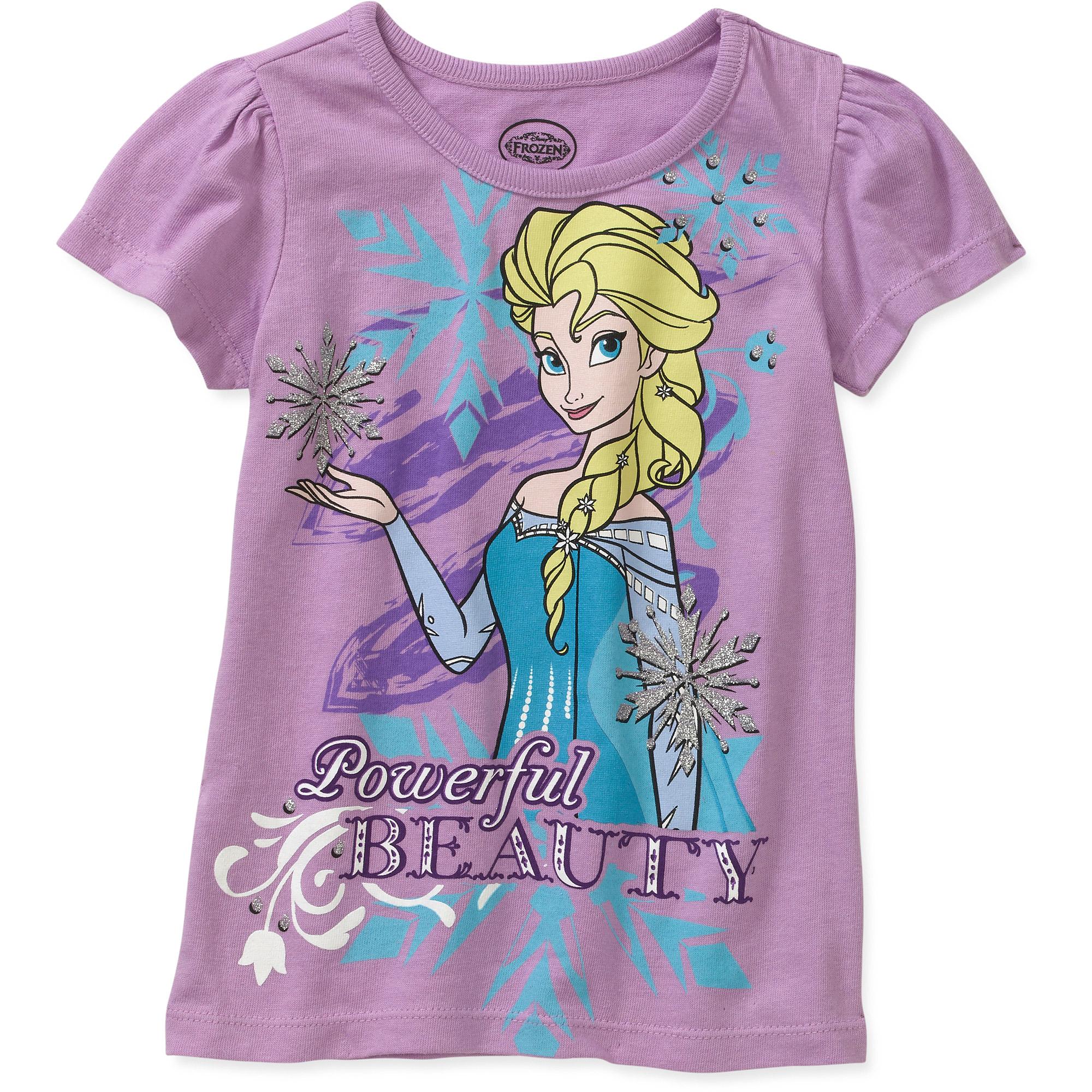 Disney Frozen Toddler Girl Elsa Beauty Short Sleeve T-Shirt