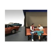 Sitting Figures Adam and Kristan 2 Piece Set For 1:18 Scale Models by American Diorama