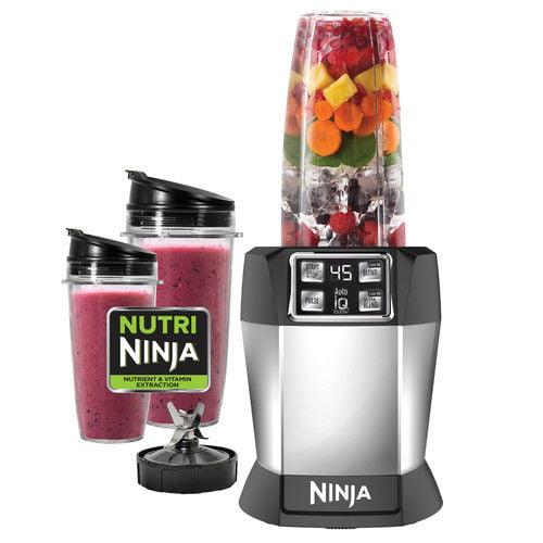 Black/Silver Ninja BL480D Nutri Ninja with 1000 Watt Auto-IQ Base ...