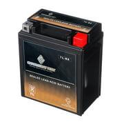 Chrome Battery YTX7L-BS (7L-BS 12 Volt,6 Ah, 75 CCA) Power Sports Battery replaces 44024 Ctx7l-bs