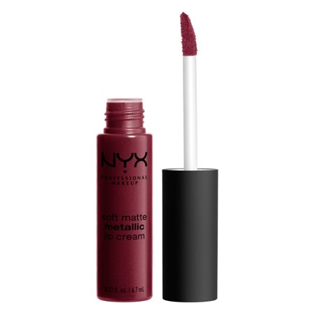NYX Professional Makeup Soft Matte Metallic Lip Cream, Copenhagen (Professional Halloween Makeup Artist)