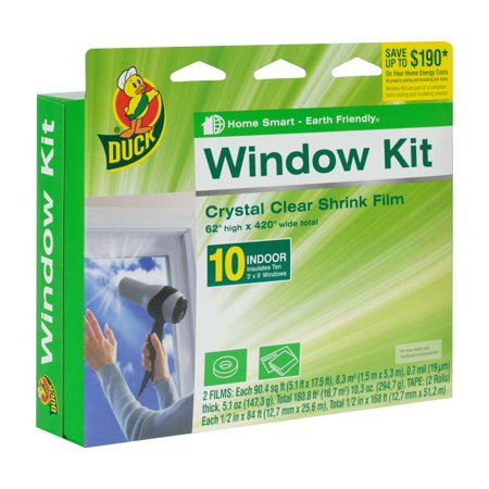 Duck Brand Shrink Film Window Kit, Indoor, 10 Pack