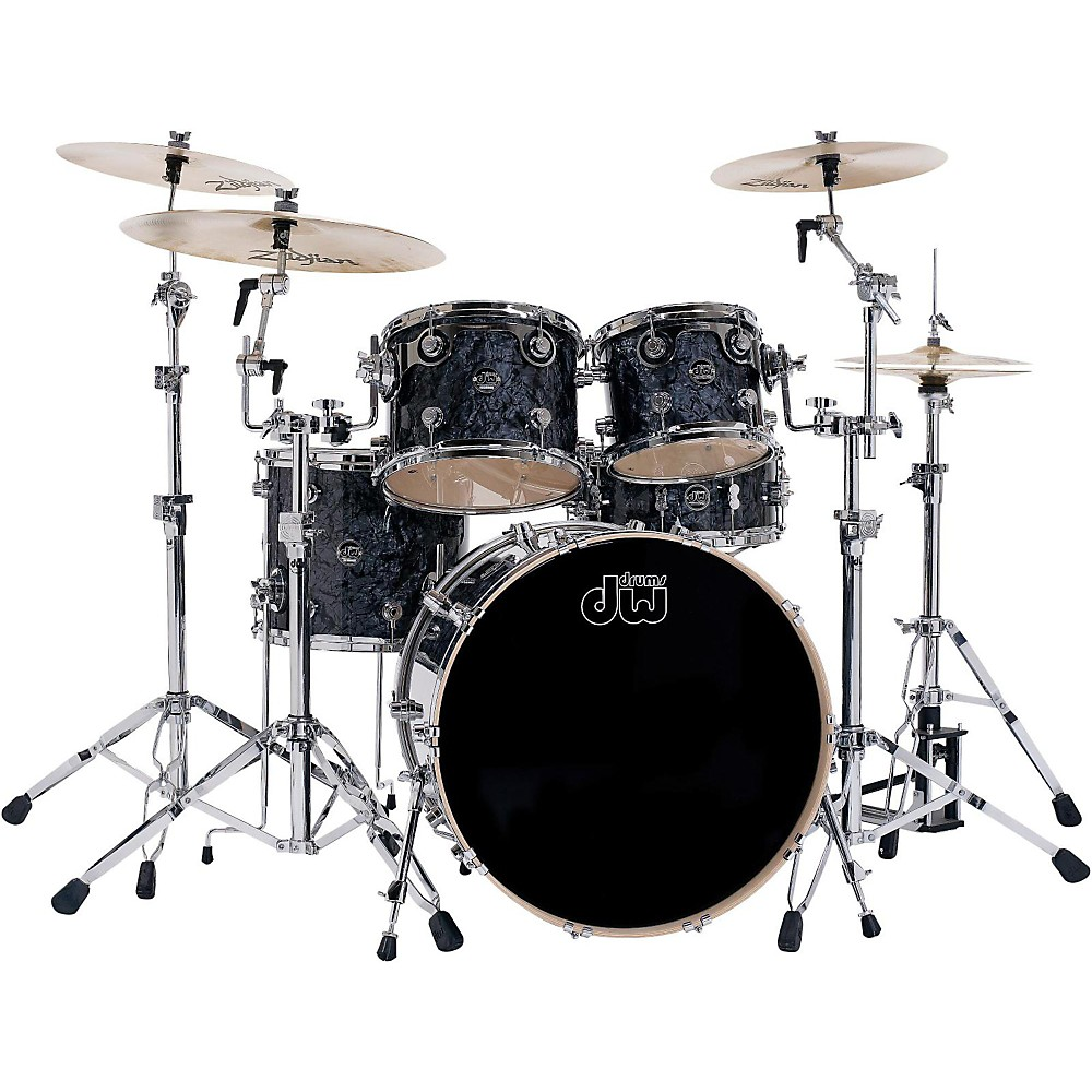 DW Performance Series 5-Piece Shell Pack Black Diamond Finish with Chrome Hardware by DW