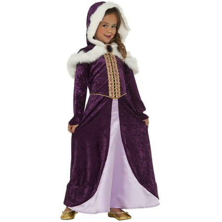 Girls Winter Royal Princess Dress Up Fantasy Childs Halloween Costume - Halloween Fantasy Hairstyles