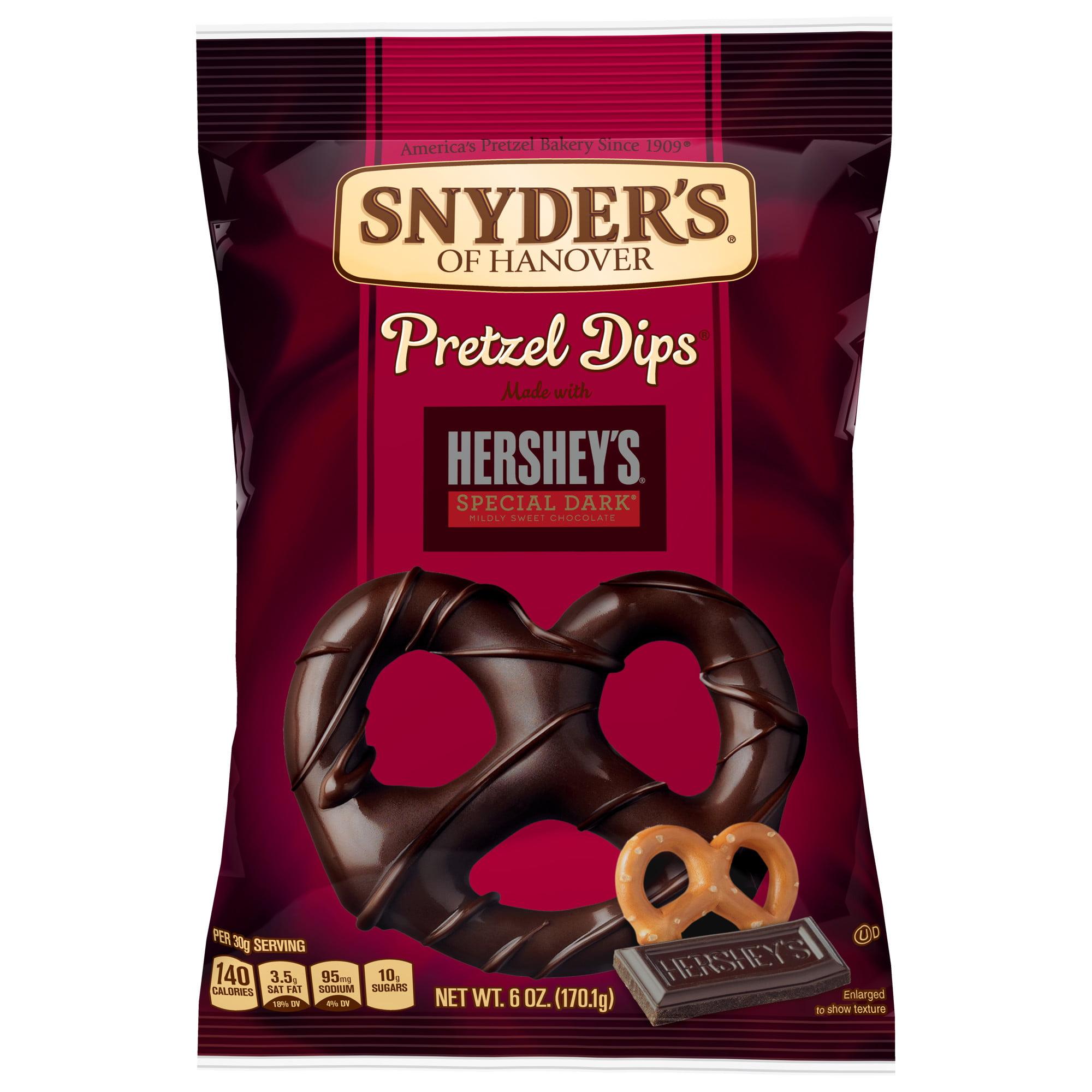 (2 Pack) Snyder's of Hanover Hershey's Pretzel Dips, Special Dark Chocolate, 6 Oz