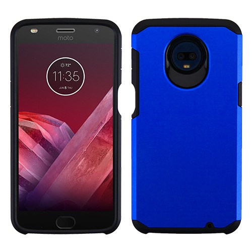 Motorola Moto Z3, Z3 Play - Phone Case Protective Shockproof Hybrid Rubber Rugged Cover Blue Slim Case for Motorola Moto Z3, Z3 Play