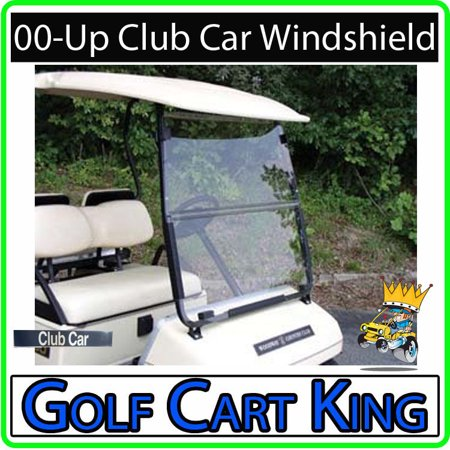 Club Car DS Golf Cart (Clear) Folding Flip Impact Modified Windshield