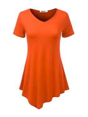 addb119a5d2d98 Product Image Doublju Women's Short Sleeve Swing Tunic Tops for Leggings  Flowy Basic T Shirt Plus Size BLACK