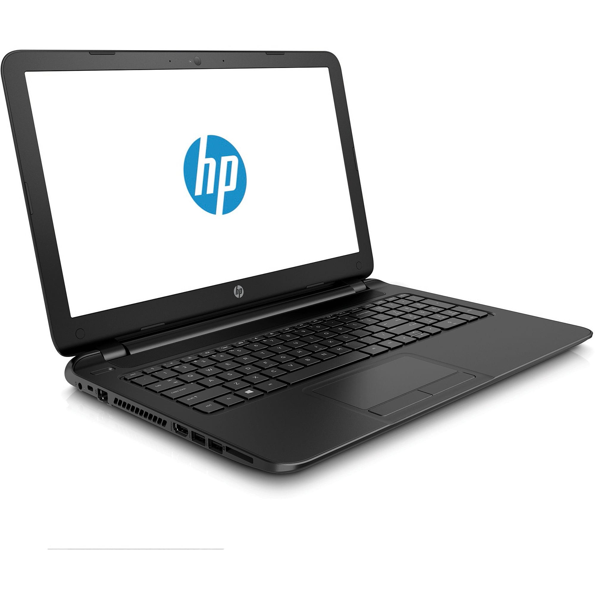 "HP 15.6"" 15-F039WM Laptop PC with Intel Celeron N2830 Processor, 4GB Memory, 500GB Hard Drive and Windows 8.1, Black"