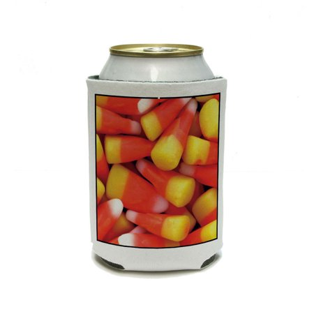 Candy Corn Awesomeness - Halloween Can Cooler Drink Insulator Beverage Insulated Holder - Halloween Drinks Dry Ice Alcoholic